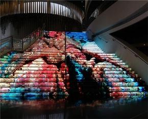 天津滨海新区展览馆楼梯屏